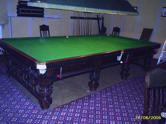 Orme sons snooker table full size for 1 4 size snooker table