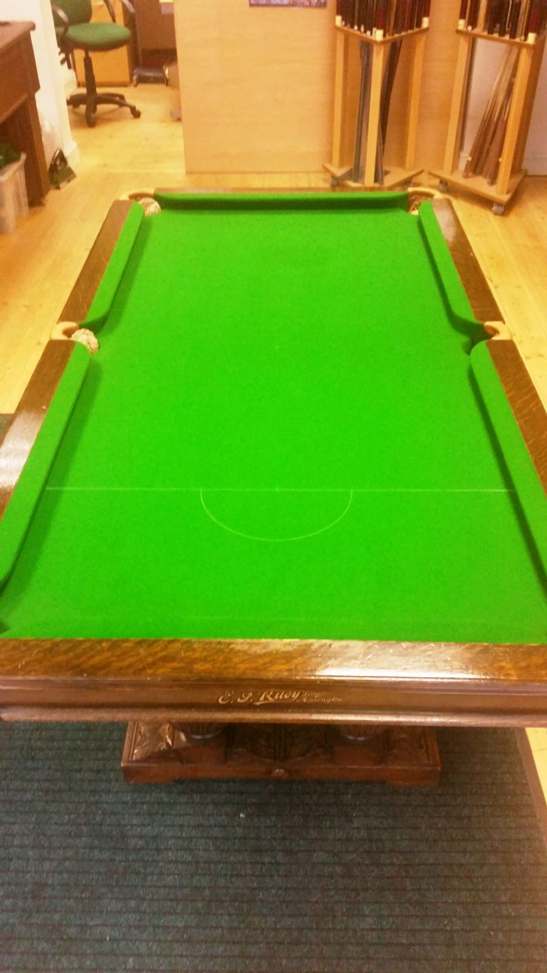 EJ Riley Solid Oak Ft Snooker Dining Table - Handmade pool table
